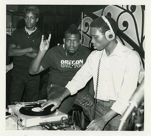 Afrika Bambaataa at the Roxy Club in NYC (early 1980s)