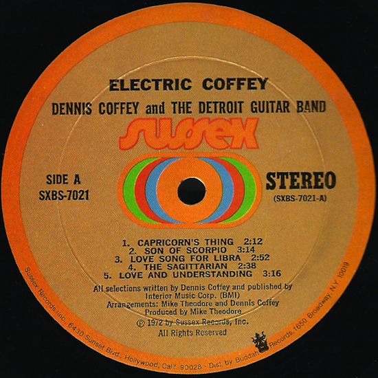 Dennis Coffey And The Detroit Guitar Band / Electric Coffey (1972)