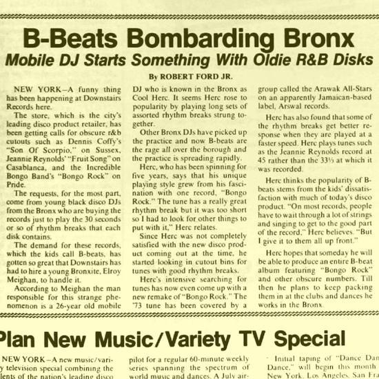 B-Beats Bombarding Bronx Mobile DJ Starts Something With Oldie R&B Disks