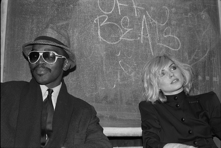 Fab 5 Freddy and Debbie Harry at the Mudd Club (1980)