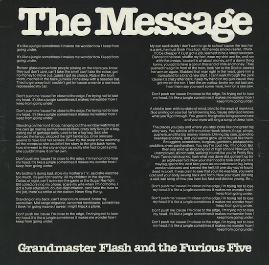 Grandmaster Flash & The Furious Five ‎/ The Message (UK 1982)