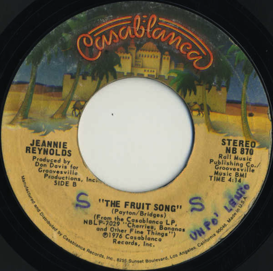 Jeannie Reynolds / The Fruit Song (1976)