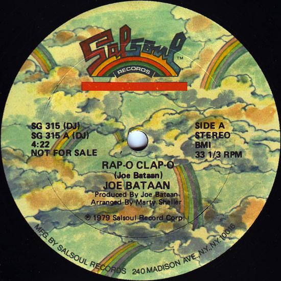 Joe Bataan / Rap-O-Clap-O (12inch Promo 1979)