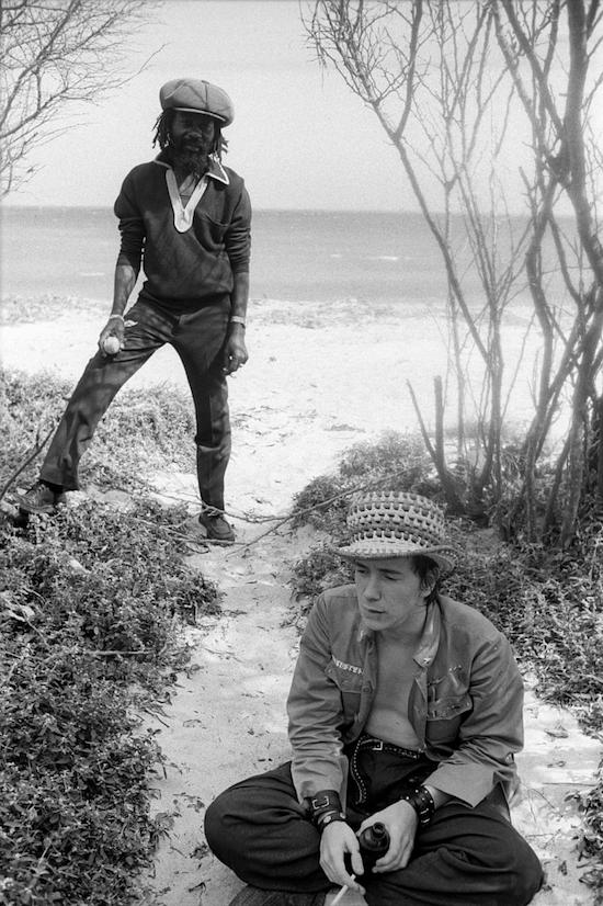 John Lydon and U-Roy, Hellshire Beach, Jamaica (1978)