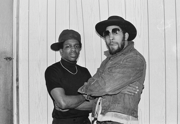 Kool Herc (right) with The Cold Crush Brothers' Tony Tone (1979)