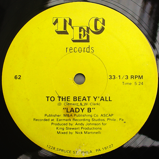 Lady B / To The Beat Y'all (12inch 1979)