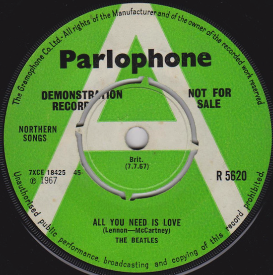 The Beatles / All You Need Is Love (Promo 1967)