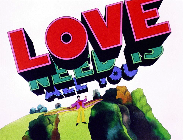All You Need Is Love; a scene from the animated film Yellow Submarine / The Beatles (1968)