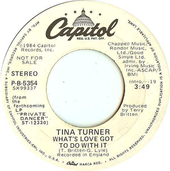 Tina Turner / What's Love Got To Do With It (Promo Single 1984)