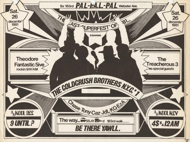Hip Hop Party Flyer, Webster Avenue P.A.L. (1981)