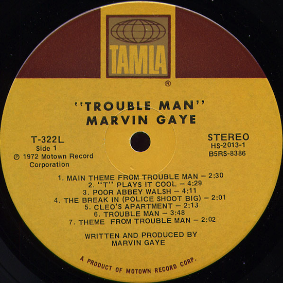 Marvin Gaye ‎– Trouble Man (1972)