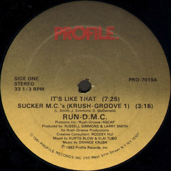 Run-D.M.C.- It's Like That / Sucker M.C.'s (Krush Groove 1) (1983)
