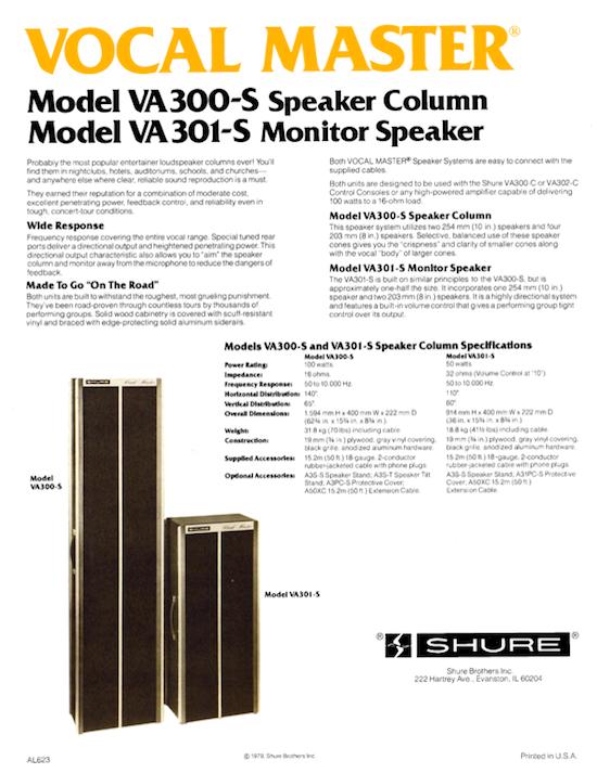 Shure Speaker Column VA 300-S (1979)