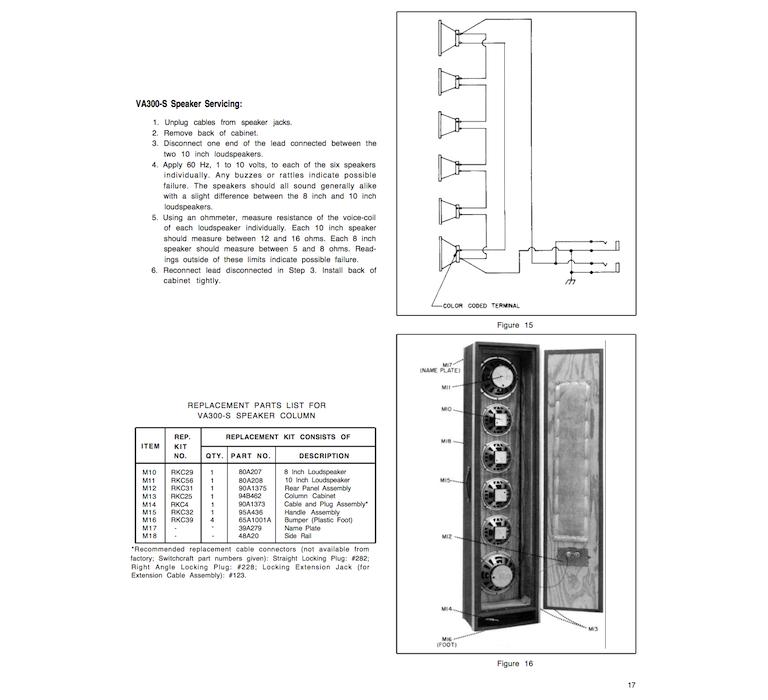 Shure Speaker Column VA 300-s (1978)
