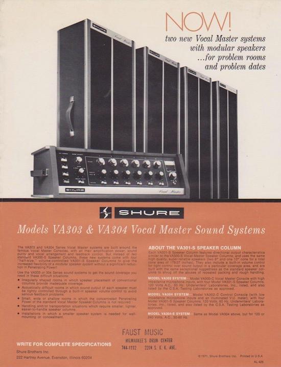 Shure Vocal Master Systems [VA303 & VA304] (1971)