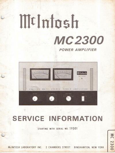 """""""The big Mac"""" McIntosh MC 2300"""