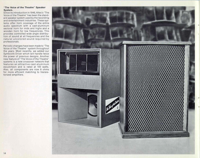 "Altec ""The Voice of the Theatre"" Speaker System (1971)"