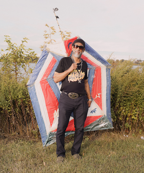 Kool Herc with his handmade kite (2019)