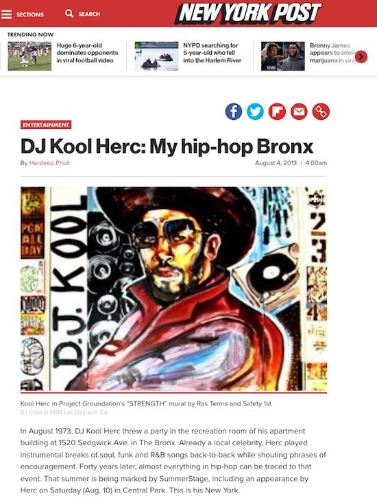 DJ Kool Herc: My hip-hop Bronx