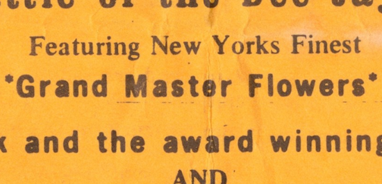 Featuring New Yorks Finest *Grand Master Flowers*