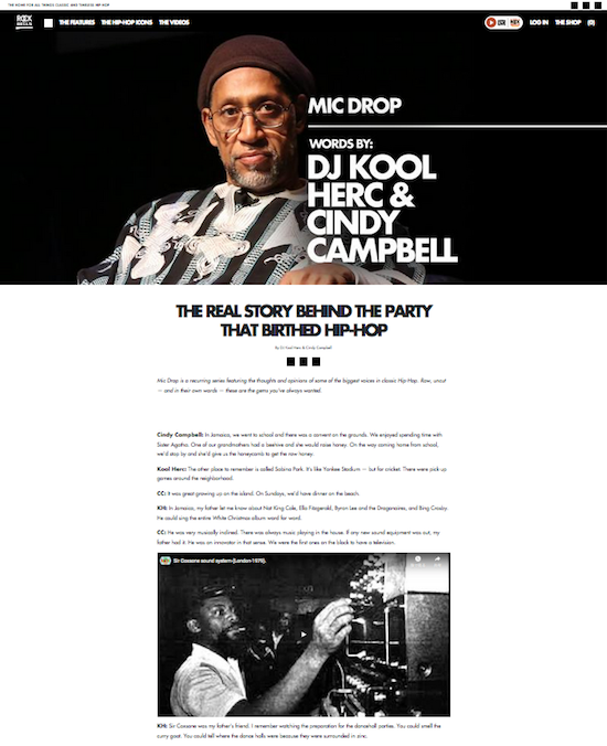 DJ Kool Herc & Cindy Campbell interview