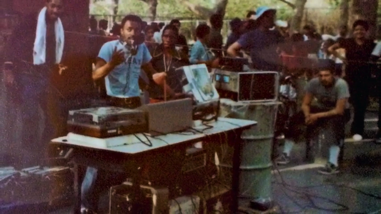 Disco King Mario at Park Jam (ca.1970s)