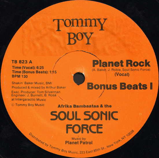 Afrika Bambaataa & The Soul Sonic Force ‎– Planet Rock (1982)