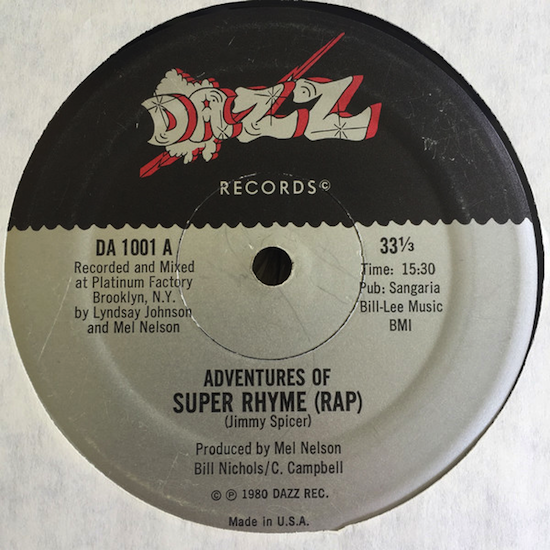 Jimmy Spicer – Adventures Of Super Rhyme (1980)