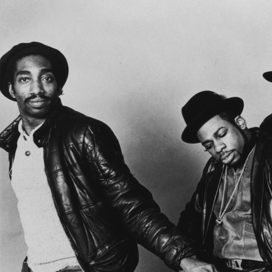 Larry Smith (left) with Jam Master Jay