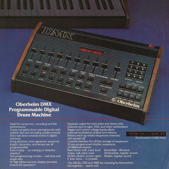 Oberheim DMX drum machine (1981)