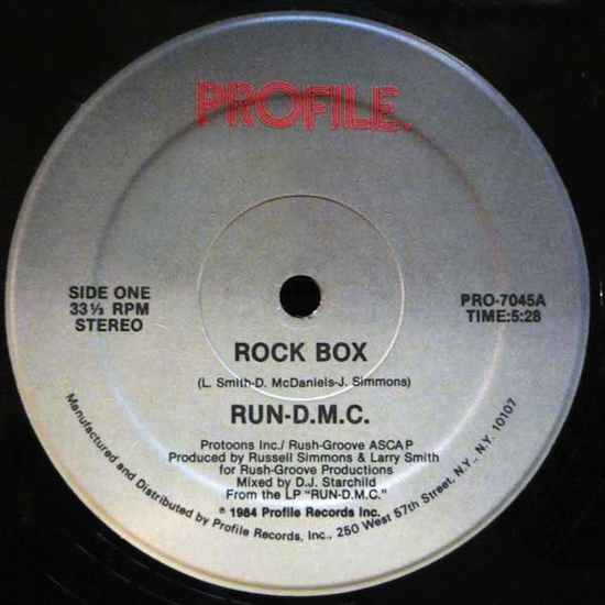 Run-D.M.C. ‎– Rock Box (1984)