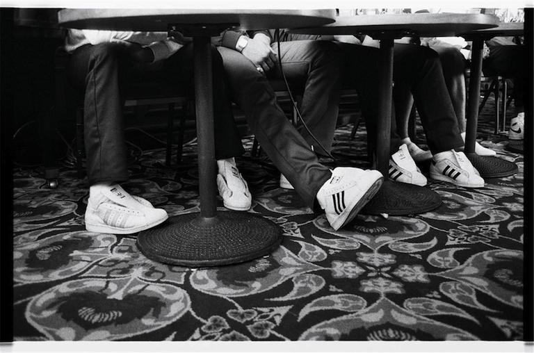 Run DMC at Fresh Fest press conference, New York (1984)