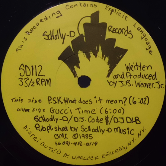Schoolly D ‎– P.S.K.-What Does It Mean? (1985)