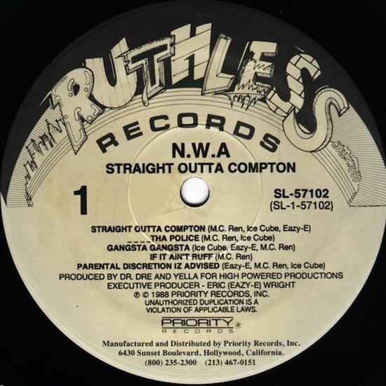 N.W.A – Straight Outta Compton (1988)