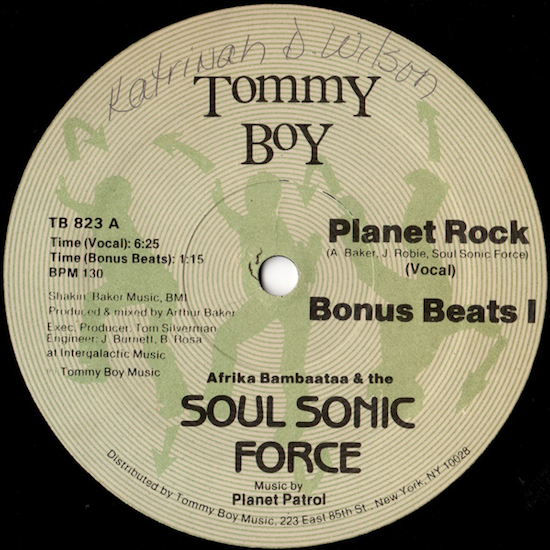 Afrika Bambaataa & the Soul Sonic Force Music By Planet Patrol – Planet Rock (1982)