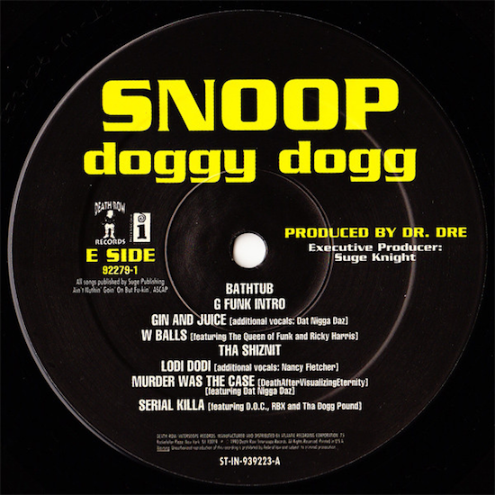 Snoop Doggy Dogg – Doggystyle (1993)