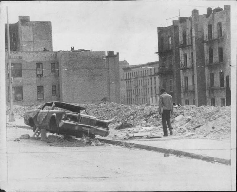 Crimmins Avenue in the Bronx. (1977)