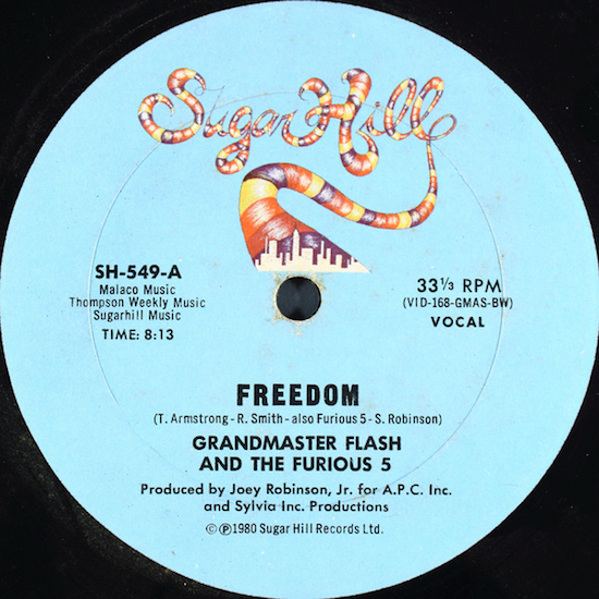Grandmaster Flash And The Furious 5 – Freedom (1980)