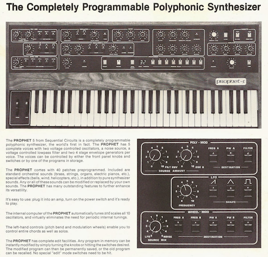 Sequential Circuits The Prophet 5 (1980)