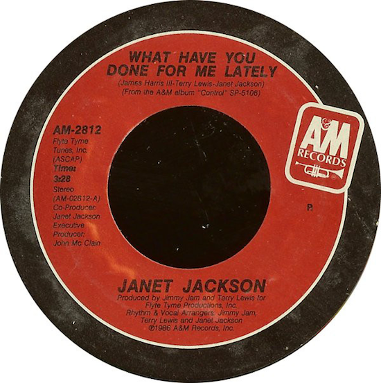 Janet Jackson – What Have You Done For Me Lately (1986)